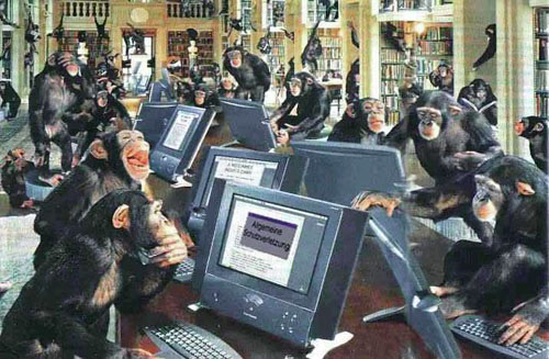 monkeys at work
